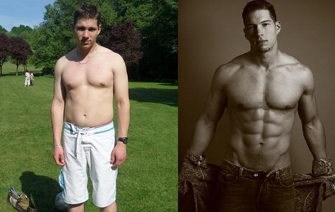 Transformation physique avant-après